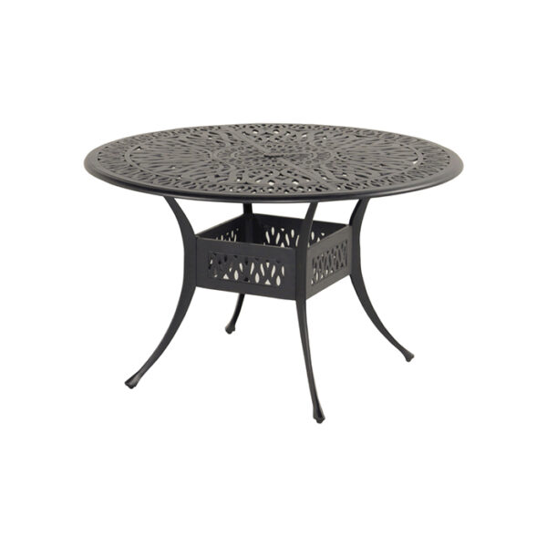 AMALFI TABLE 120CM BRONZE CAST ALU