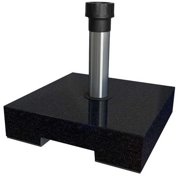 BASE SQUARE 40KG DARK GRANITE