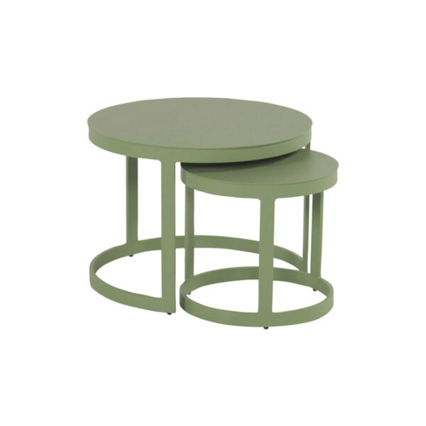 BOLIVIA ROUND TABLE SET 45+66CM GREEN