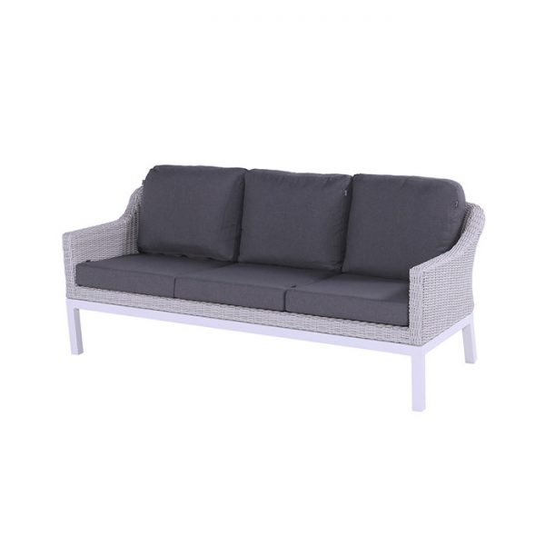 CAIRO 3 SEATER ASH WHITE