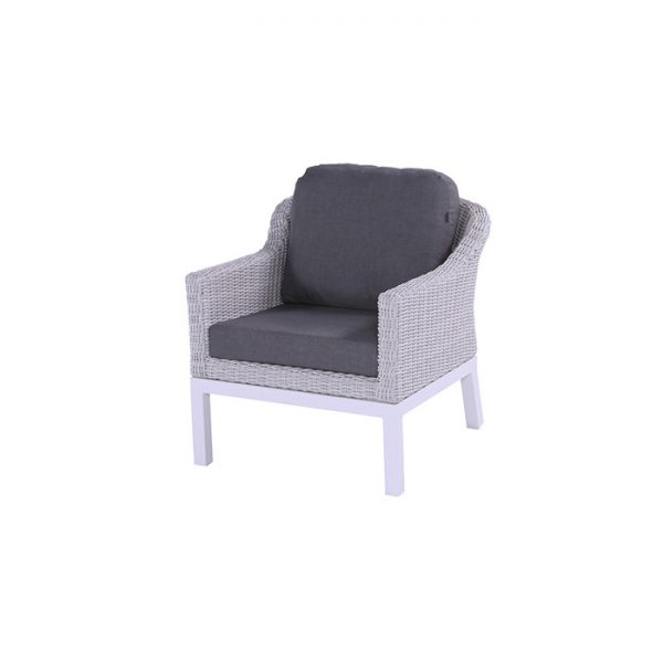 CAIRO LOUNGE CHAIR ASH WHITE
