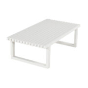 CALABRIA COFFEE TABLE WHITE ALU