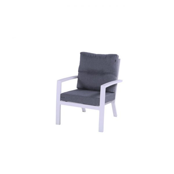 CANBERRA LOUNGE CHAIR WHITE ALU