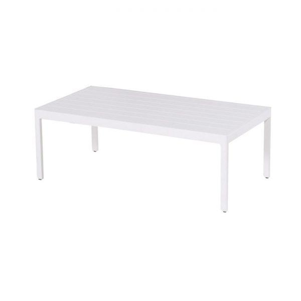 CHARLEROI COFFEE TABLE WHITE ALU