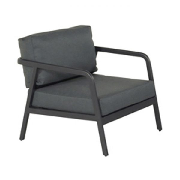 CHARLEROI LOUNGE CHAIR CHARCOAL ALU