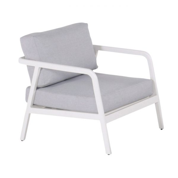 CHARLEROI LOUNGE CHAIR WHITE ALU