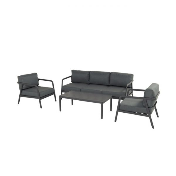 CHARLEROI LOUNGE SET CHARCOAL ALU