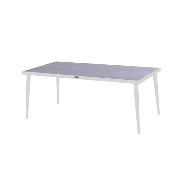 CONSTANTINE CERAMIC TABLE 184X94CM WHITE