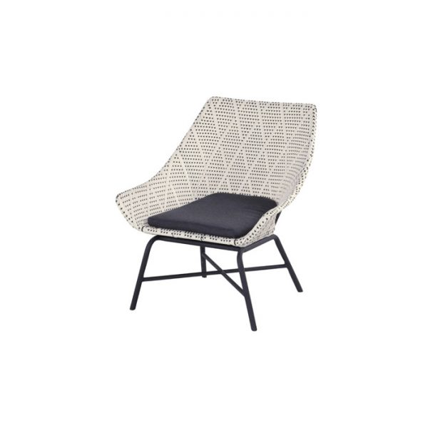 DELPHINE LOUNGE CHAIR DIAMOND GREY