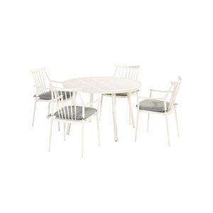 FERNANDO DINING SET WHITE