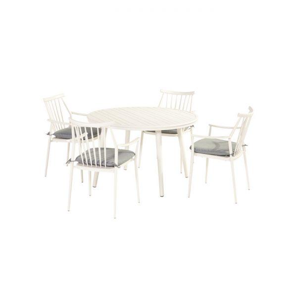 FERNANDO DINING SET WHITE