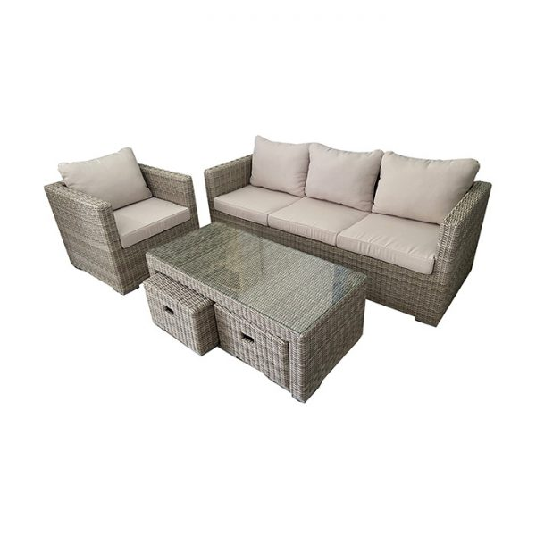 FERRARA LOUNGE SET MISTY GREY 2
