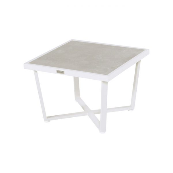 LUXOR SIDE TABLE 64X64CM WHITE CERAMIC TOP