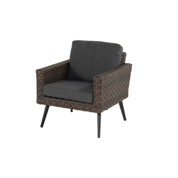 MALTA LOUNGE CHAIR LEATHER BROWN