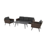 MALTA LOUNGE SET LEATHER BROWN
