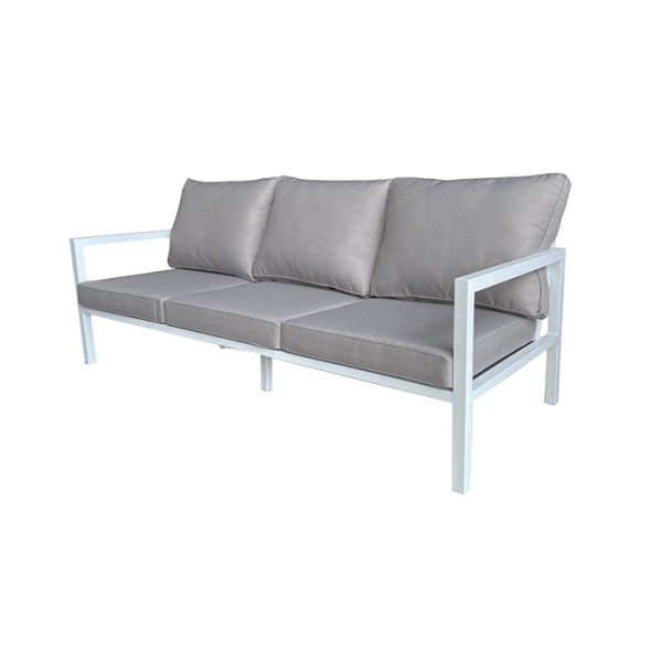 PALLAZO 3 SEATER SOFA WHITE