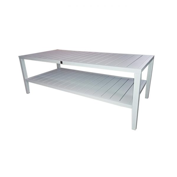 PALLAZO COFFEE TABLE WHITE ALU
