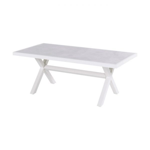 PORTO RICO LOUNGE DINING TABLE WHITE