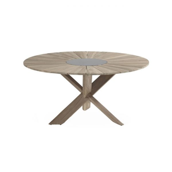 PROVENCE TABLE ROUND 150CM TEAK LIGHT GREY