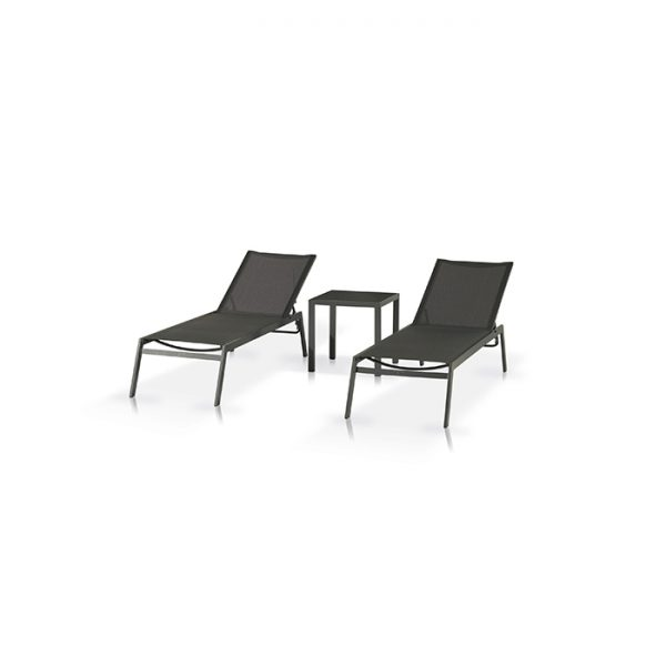 ROMA LOUNGER AND STRESSA SIDE TABLE