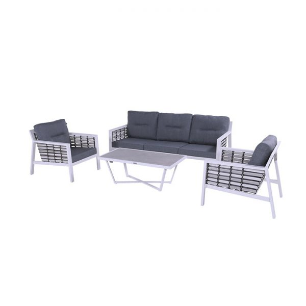 SAN JUAN LOUNGE SET WHITE