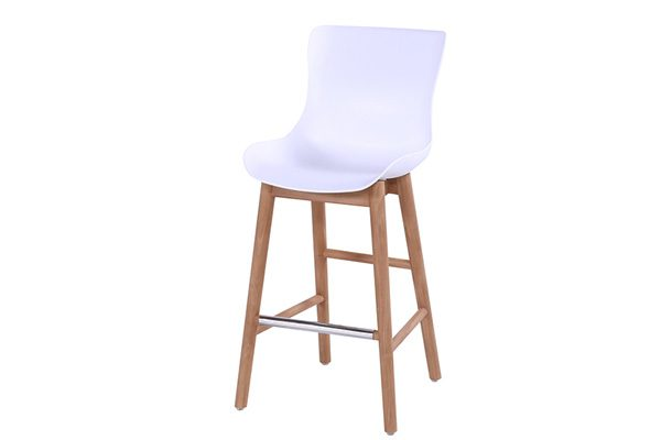 SOPHIE BAR STOOL TEAK WHITE