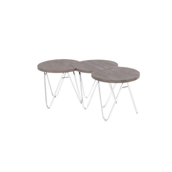 SOPHIE FULL MOON TABLE 50CM WHITE