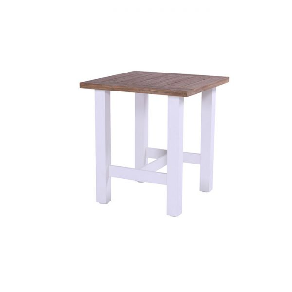 YASMANI BAR TABLE 100X100CM WHITE TEAK