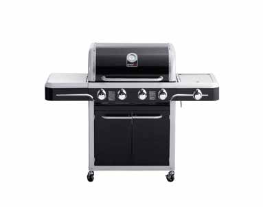 belair gas grill black