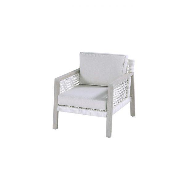 bernadetta lounge chair light grey teak