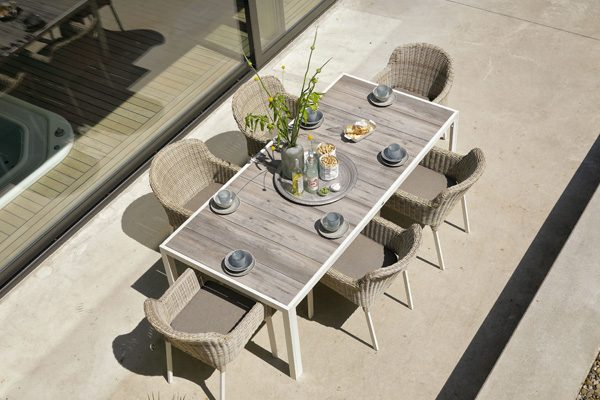 cairo chair with tanger table 225x105cm
