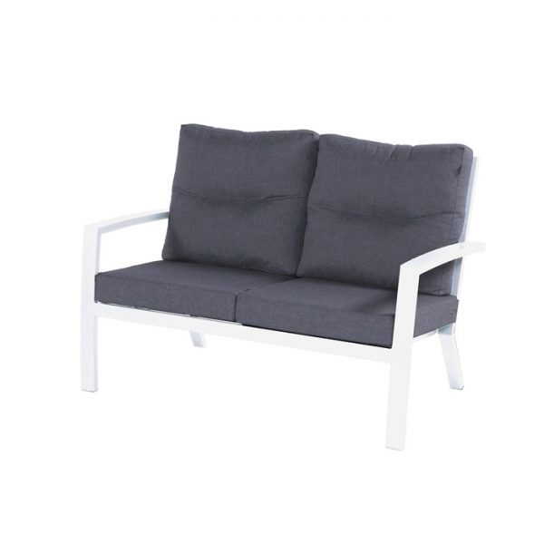 canberra 2 seater sofa white