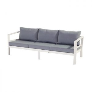 cannes 3 seater sofa white 216x80x64cm