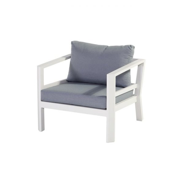 cannes lounge chair 80x80x64cm white