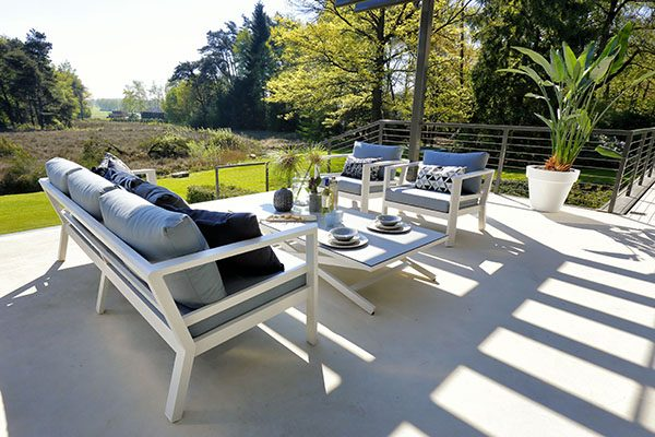 cannes lounge set aluminium white