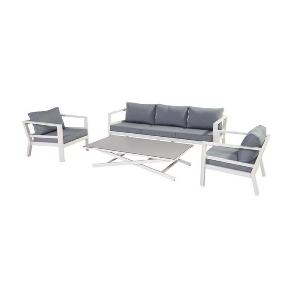cannes lounge set white