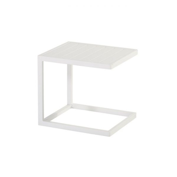 cannes side table 46x40x43cm white