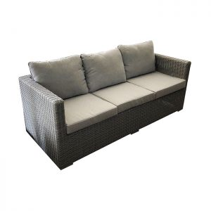 ferrara 3 seater sofa grey