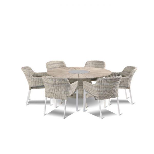 provence-table-150cm-teak-cairo-chair-sunny-cream