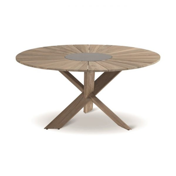 provence table round 150cm vintage teak