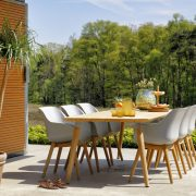 sophie chair teak with sophie table 240x100cm teak