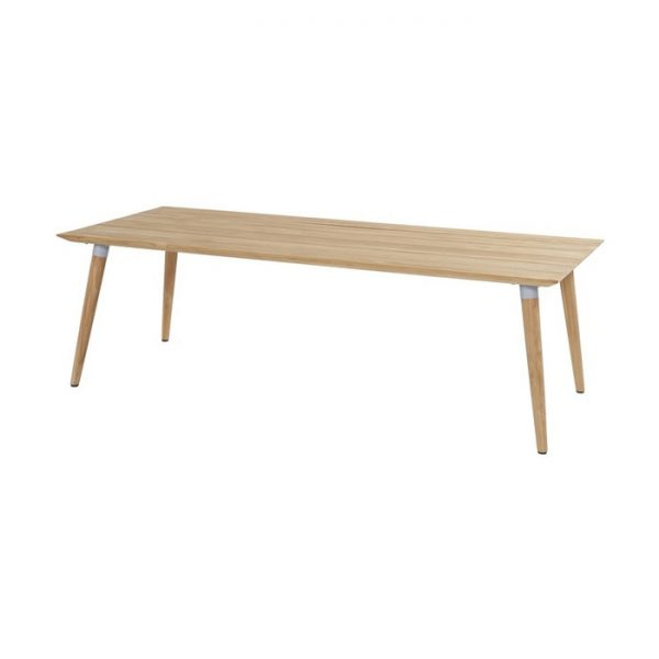 sophie table 240x100cm teak misty grey