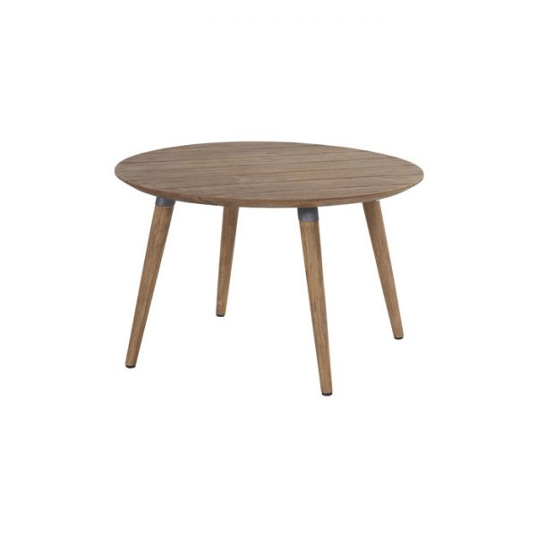 sophie table round 120cm teak misty grey