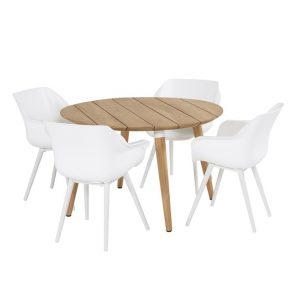 sophie table round 120cm with sophie chair white2