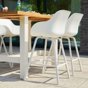 yasmani bar table 180x100cm white ambiance